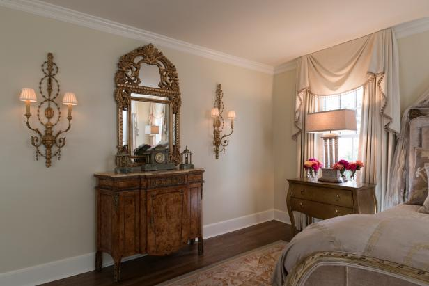 Neutral Victorian Master Bedroom