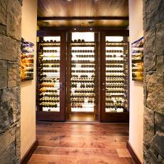 Rustic Wine Cellar With Glass Doors & Rustic Wine Cellar Photos   HGTV