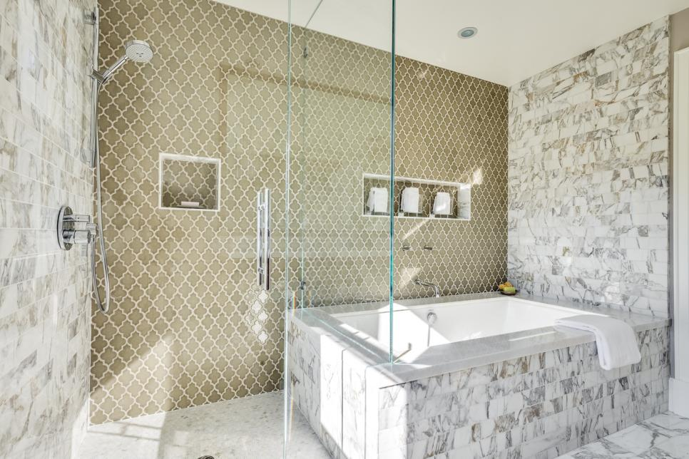 Our Fave Designer Bathrooms HGTV - Bathroom with jacuzzi and shower designs