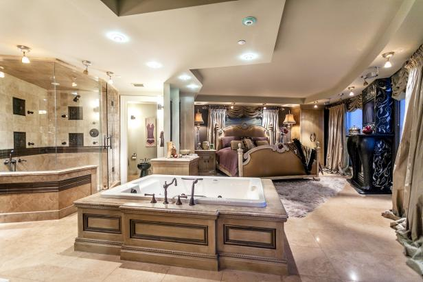 Master Bedroom With Jacuzzi Tub | HGTV