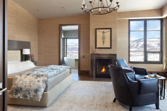 Contemporary Bedroom With Stunning Mountain View