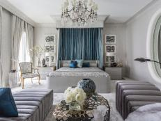 Master Bedroom Covered in Crystal, Silk