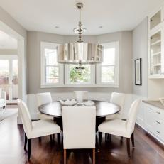 Dining Room is Light, Bright and Cozy