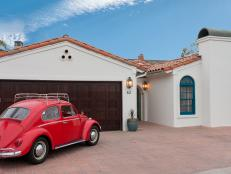White Mediterranean Exterior With Red VW