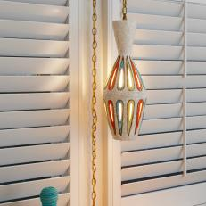 Colorful Pendant Light and Basket