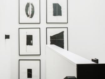 Contemporary, Black-and-White Staircase