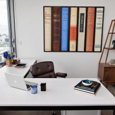 Home Office With Book Art