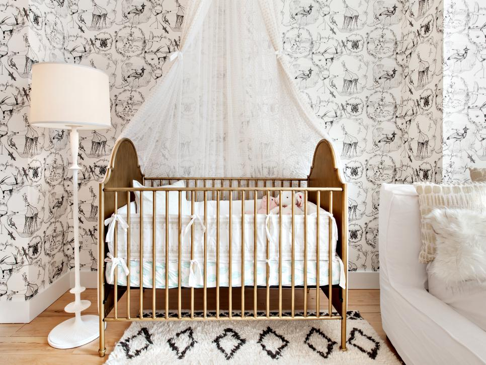 Crib and Canopy Net in Nursery