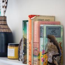 Eclectic Accessories on Floating Shelves