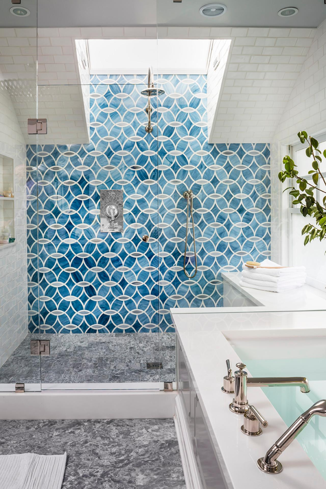 Top 20 bathroom tile trends of 2017 hgtv 39 s decorating Different design and colors of tiles
