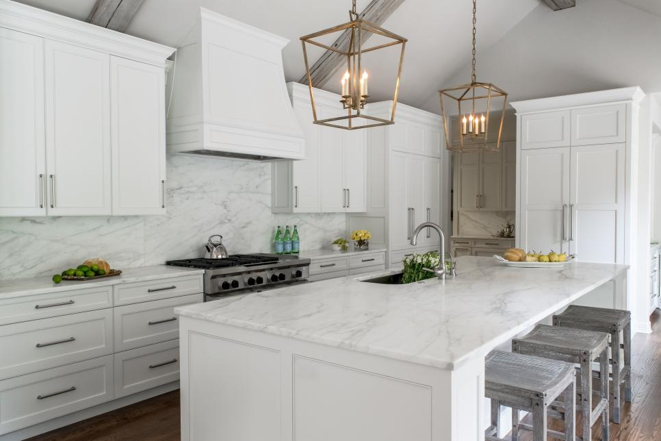 kitchen cabinets vaulted ceiling white contemporary kitchen with vaulted ceilings hgtv 6439