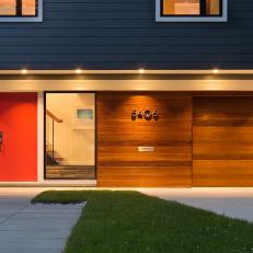 Sapele Wood, Single-Car Garage Door