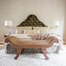 Classic Upholstered Headboard in Timeless Bedroom
