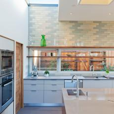 Double Ovens in Streamlined Kitchen