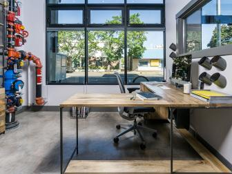 Office With Industrial Feel
