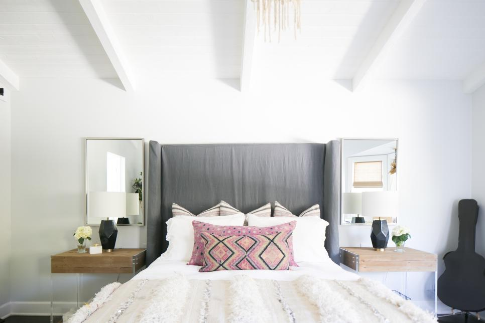 modern master bedroom with bohemian decor hgtv faces of 10898 | 1466180665998