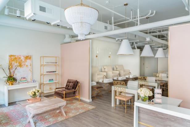 Blush and Cream Midcentury Modern Nail Salon
