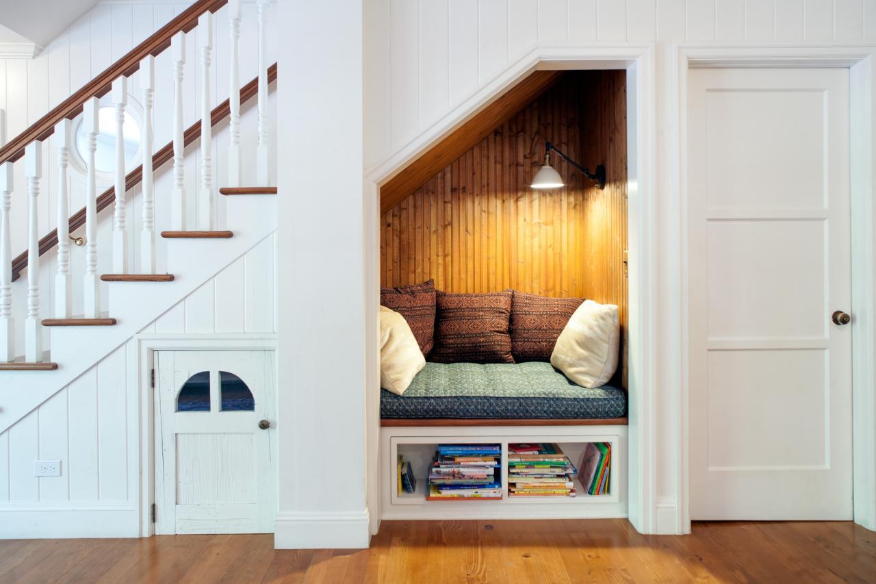 Closet Becomes Cozy Reading Nook
