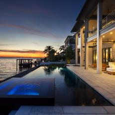 Stunning Waterfront Home With Infinity Pool and Spa