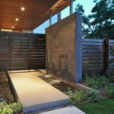 Modern Water Feature with Natural Elements