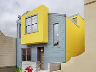 Gray and Yellow Modern Home Exterior