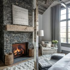 Elegant Master Bedroom Mixes Rustic and Contemporary Styles
