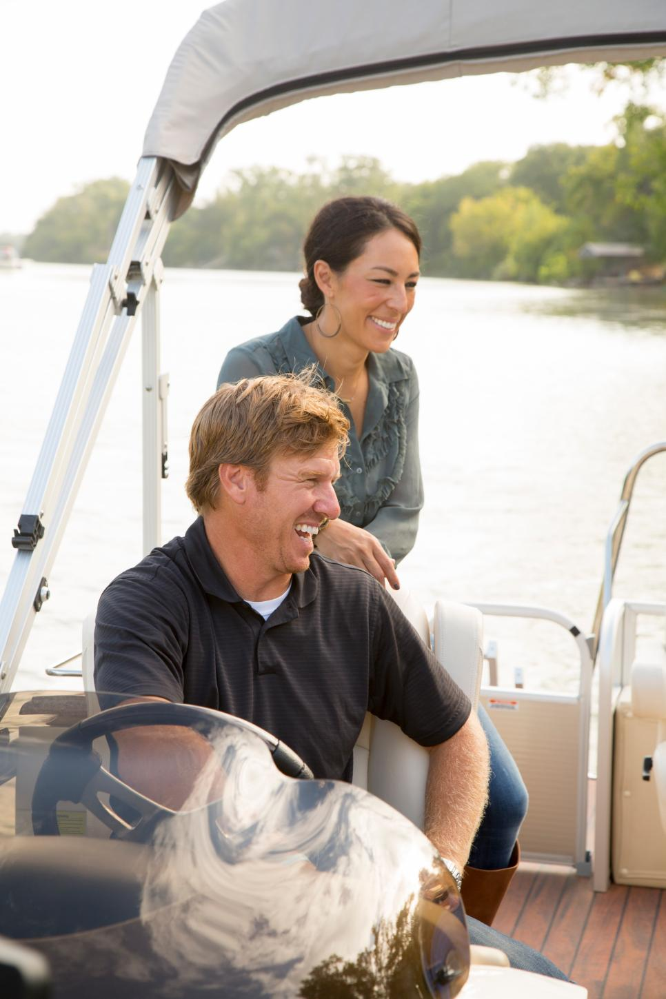 Chip and Joanna Gaines Take a Boat Ride to the Renovated Home