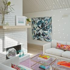 Bold Color & Pattern in Sitting Room