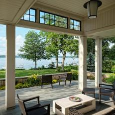 Bluestone Patio With Lake View