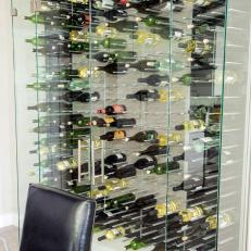 Custom Wine Rack In State Of The Art Kitchen