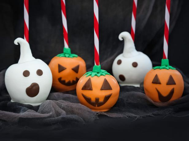 Spooky Candy-Dipped Apples
