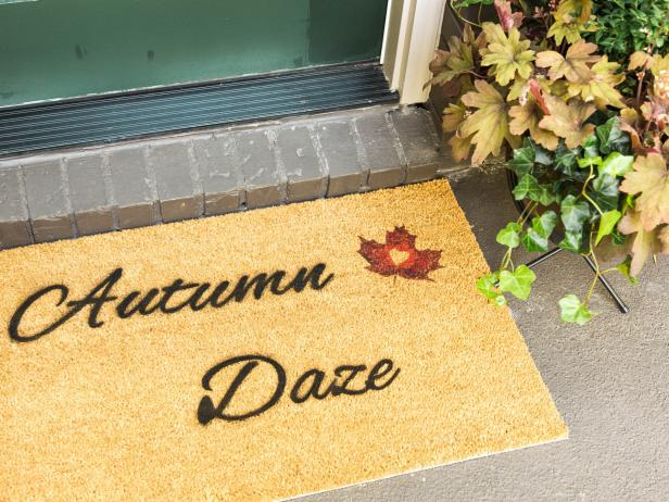 Greet Your Guests With a Fall-Friendly Doormat