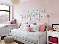 Pink Accents in Neutral Color Palette Bedroom