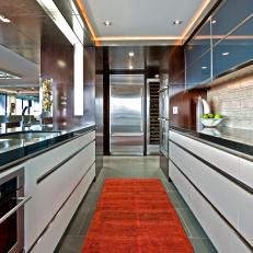 Contemporary Galley-Style Kitchen