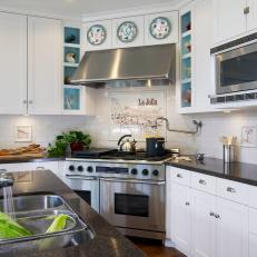 Clic Black And White Kitchen