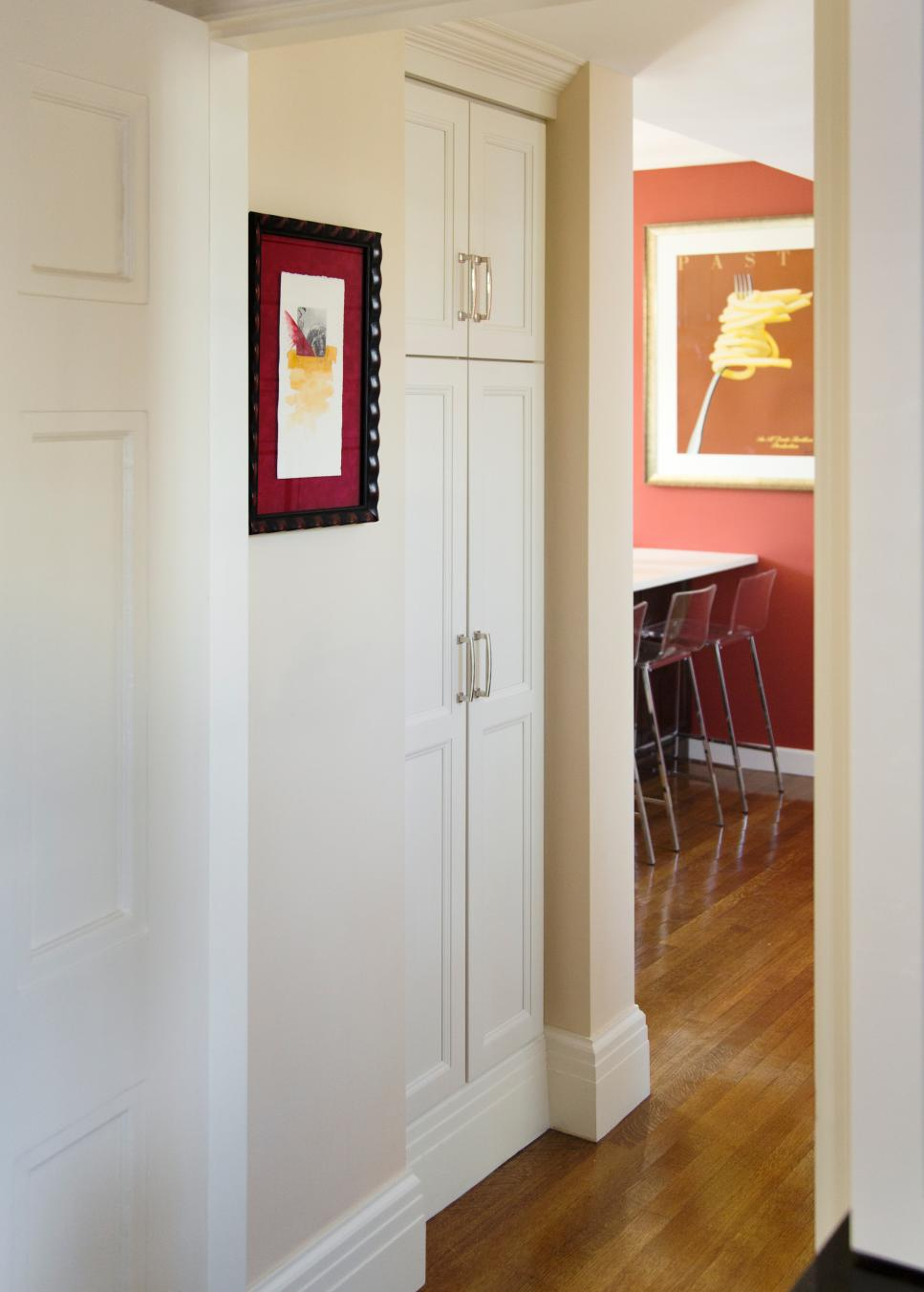 Built In Cabinets Create Storage Solution In Hallway Hgtv