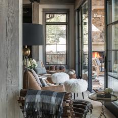 Eclectic Living Room has Rustic Vibe