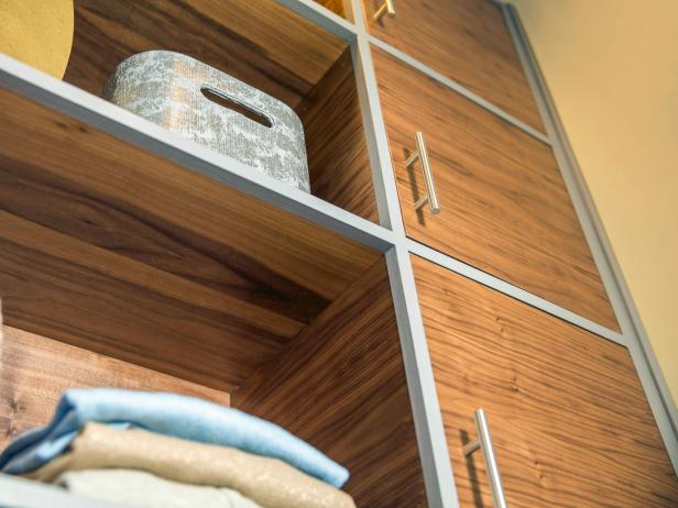 Transform an used nook into a closet with this easy DIY built-in storage unit.
