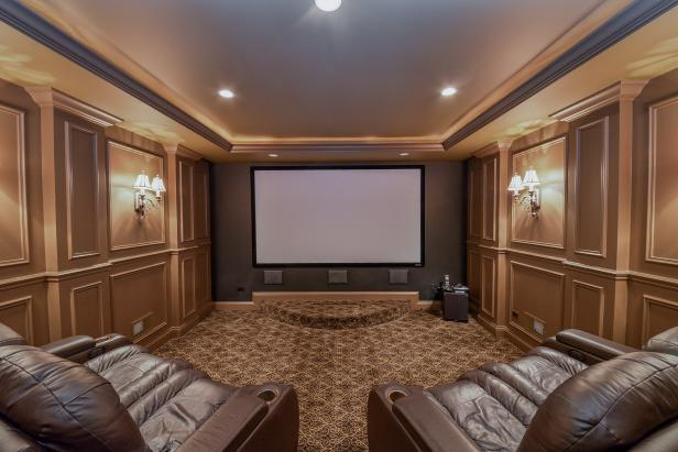 Neutral Traditional Home Theater