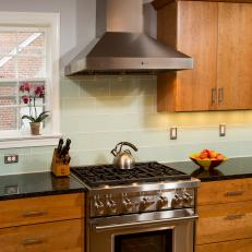 Kitchen With Stainless Steel Stove