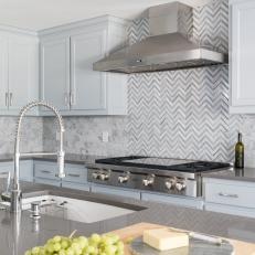 Photos Hgtv Herringbone Kitchen Backsplash Splash