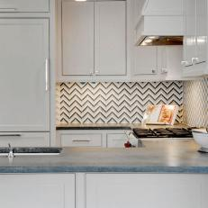 Striped Kitchen Backsplash
