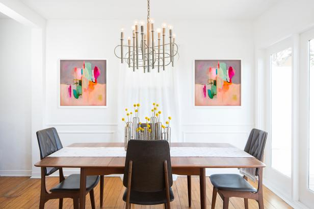Modern, Neutral Dining Room