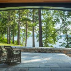 Outdoor Sitting Area With Lake View