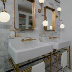 Art Deco Bathroom Photos Hgtv - Art-deco-green-bathroom-tiles