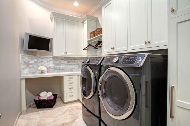 Laundry Room With TV