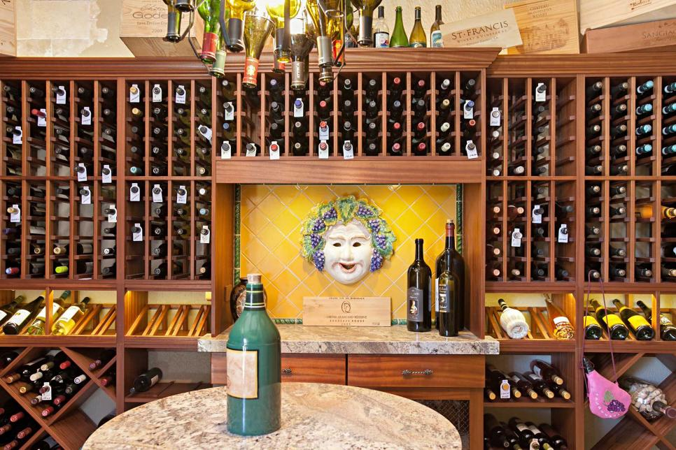 Wine Cellar With Face