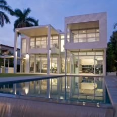 Infinity Pool View of Modern Beach Home