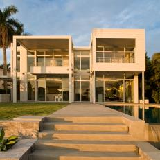 Front Walkway to Modern Miami Home