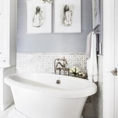 Elegant Gray Master Bathroom